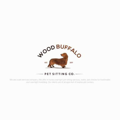 playful logo design for Wood buffalo Pet Sitting