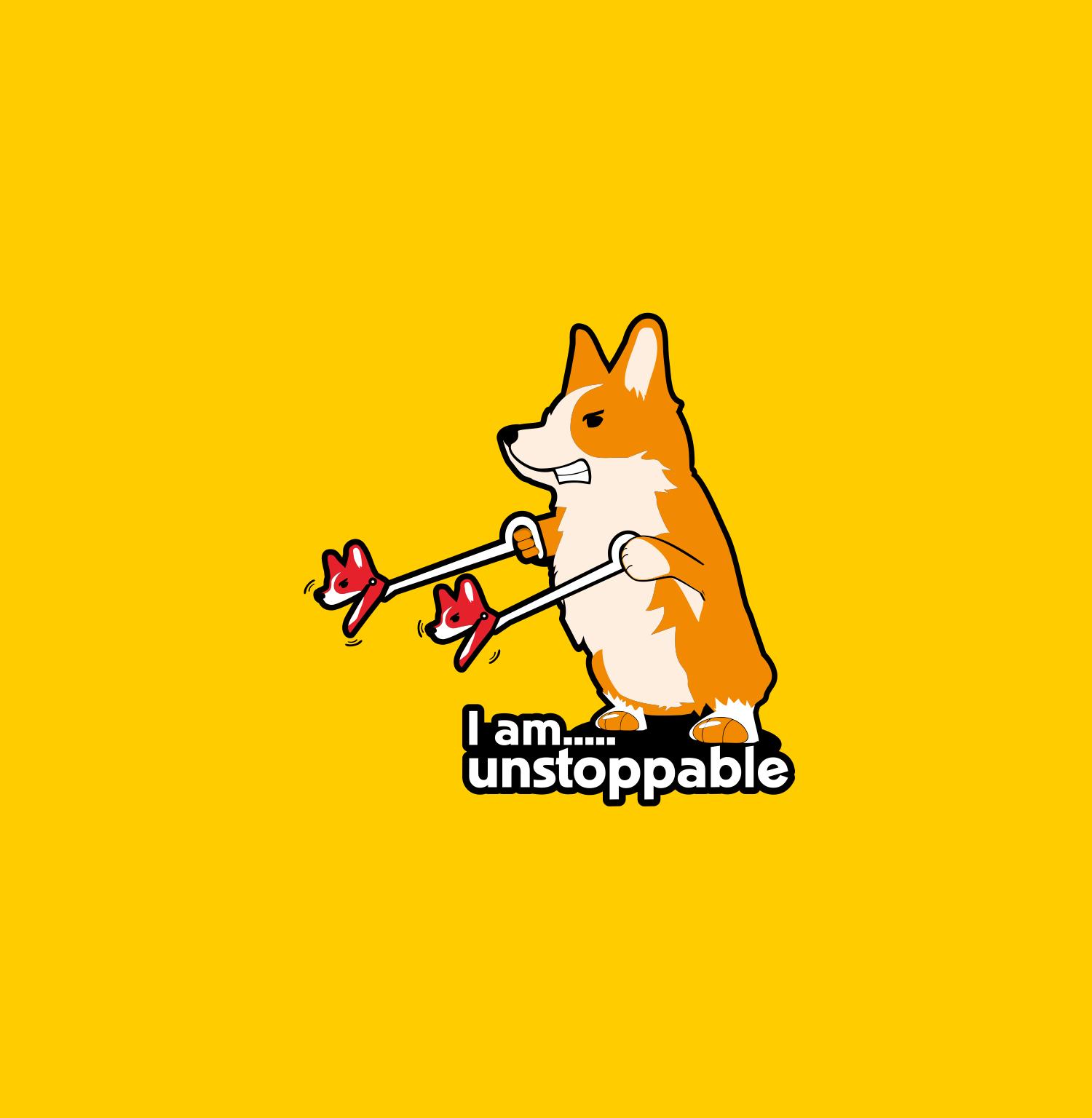 """""""i'm unstoppable"""" corgi t-shirt"""