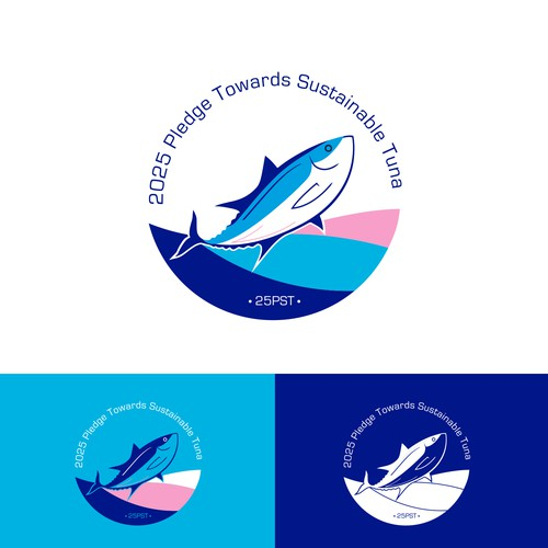 Minimalist, clean logo for Tuna Sustainability