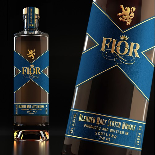 Logo and label design Fior Scotch