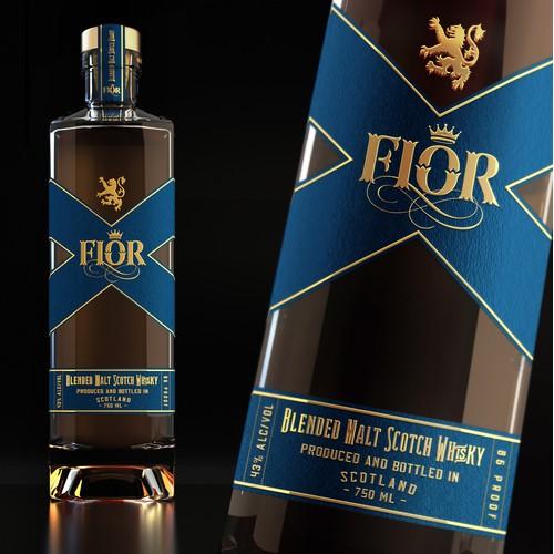 Logo and label design Fior Scotch