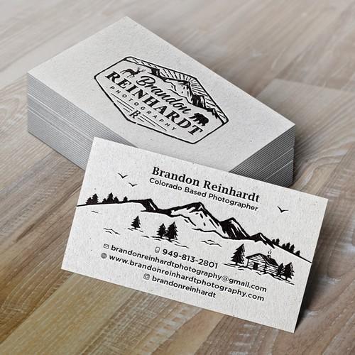 Logo and business card for Brandon Reinhardt