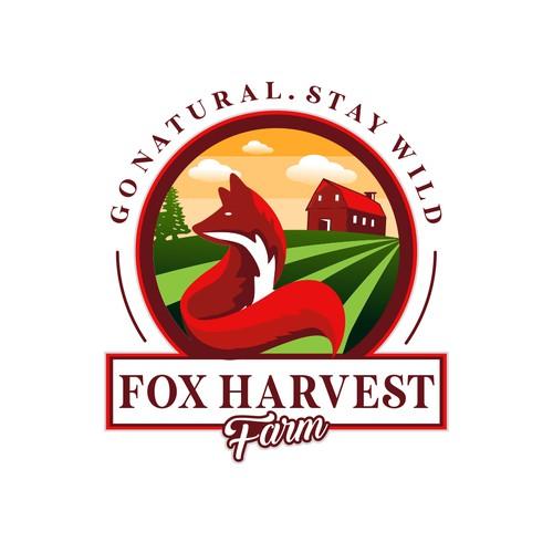 bold logo concept for fox harvest