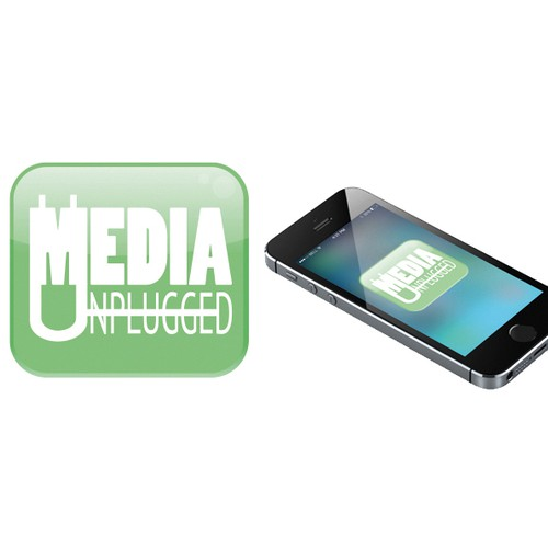 Visualize a smart and funny new audio podcast called Media Unplugged