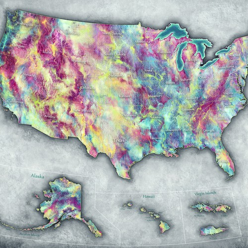 US Map design