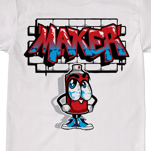 T-shirt design for a Street Graffiti Brand