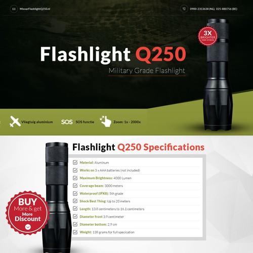 Flashlight Q250