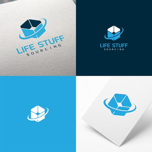 Concept for logo and Visual Identity for sourcing company of products and retail brands