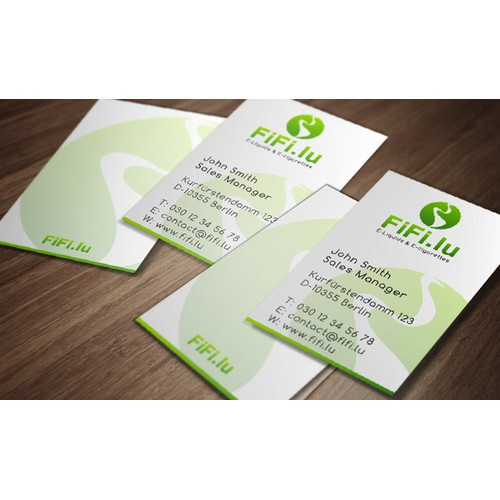 Create a business card for E.cigarettes selling