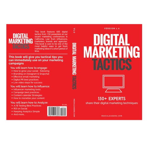 Book cover design for Digital Marketing Tacitics