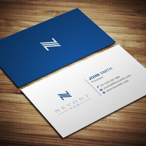 Nevont LLC Logo and Business Card Design