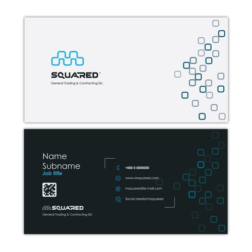 Msquared -business card