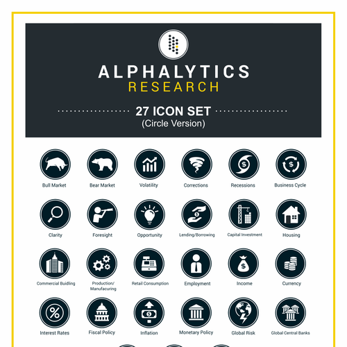 Icon set for alphalitics