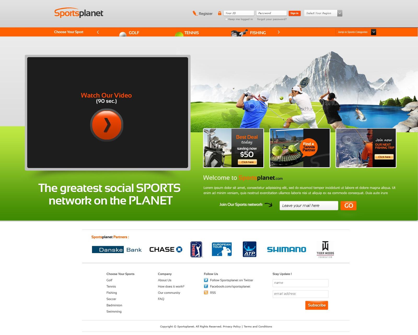 Sportsplanet needs a new website design