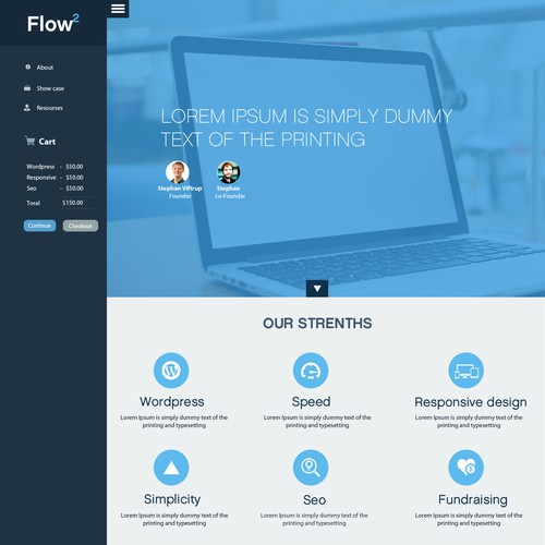 Create a bold and professional website for FlowTwo