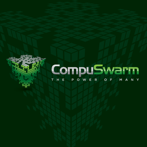 logo and business card for CompuSwarm
