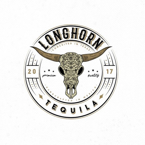 Logo for a Longhorn Tequila drink
