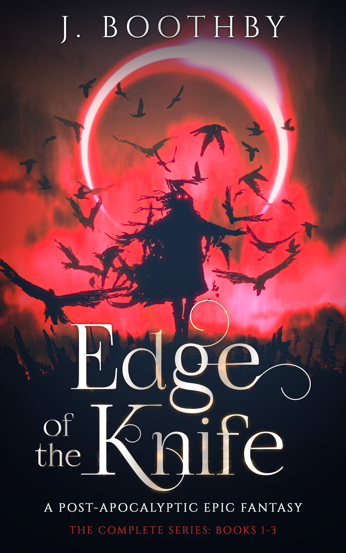 Ebook cover for Edge of the Knife, a stand alone Post-Apocalyptic Urban Fantasy ebook