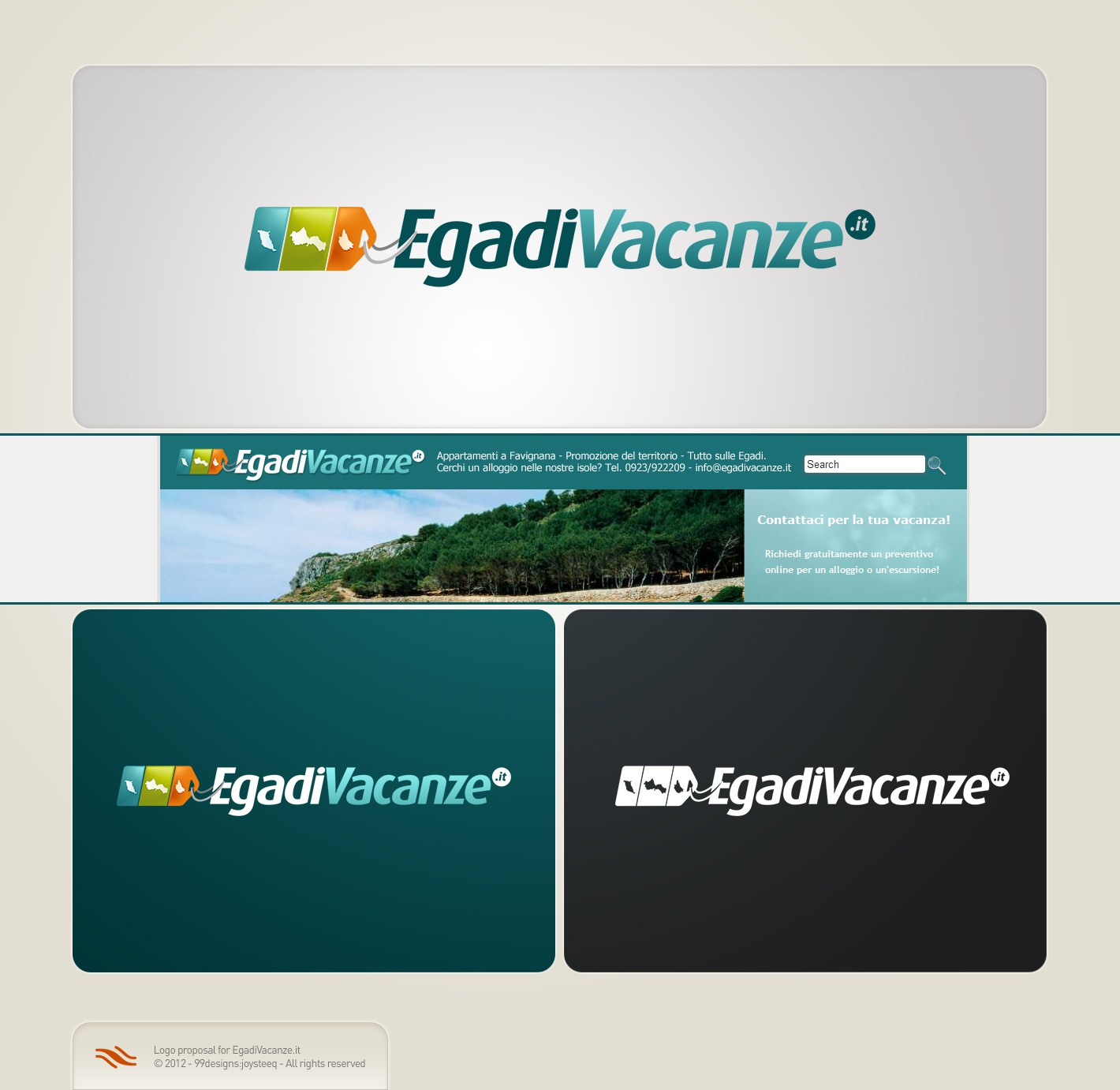 Your talent is needed! Re-design the logo for EgadiVacanze.it