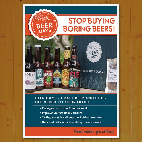 Design Flier for Craft Beer delivery service