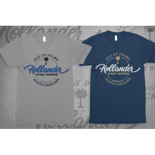 Holader Family Reunion, illustration & typographic tshirt design