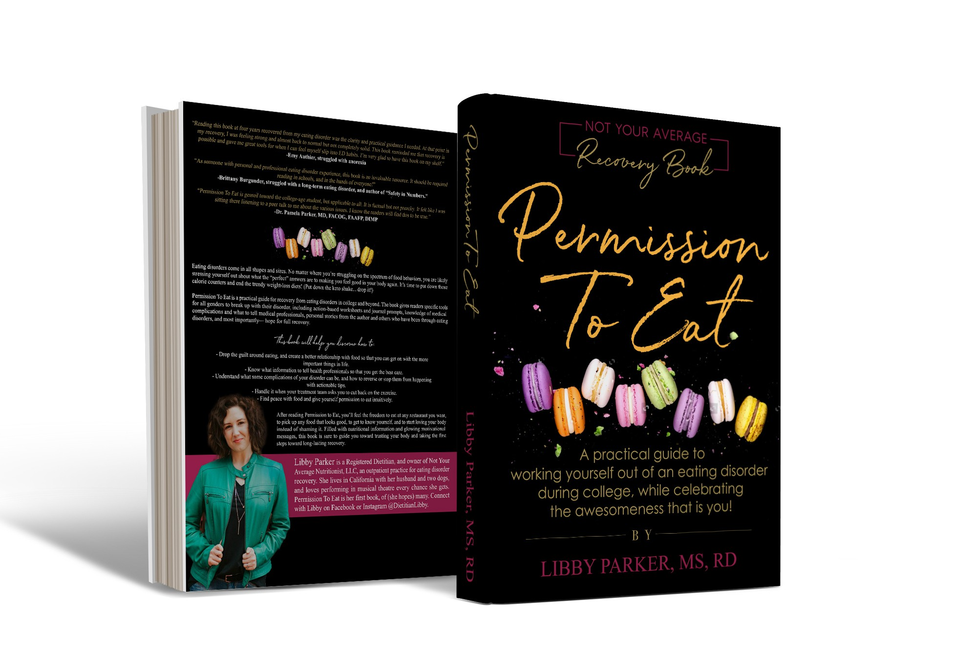 Cover for book on recovering from eating disorders in college and beyond