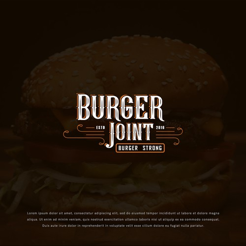 Logo design concept for Burger Joint