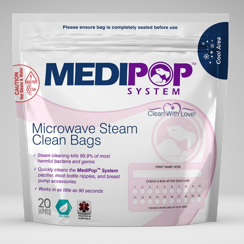 Calling all expert baby product designers! We need a microwave steam sterilization bag designed!