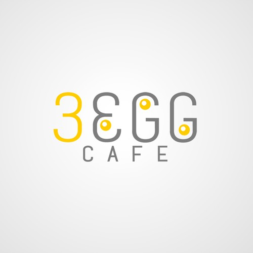 Create a logo for Three Eggs breakfast and lunch restaurant