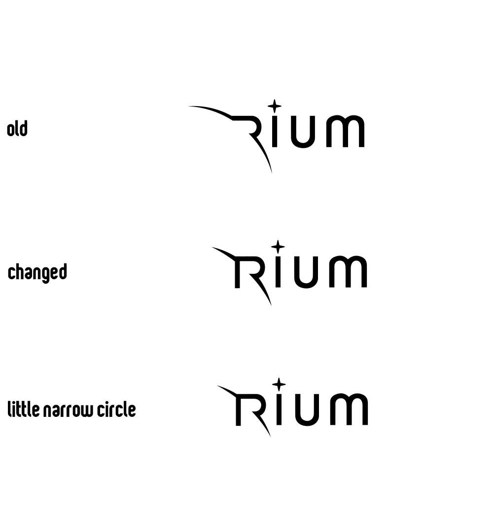 RIUM社(設立準備中)のために、社名のロゴをデザインしてください。当社はマーケティング分析を通じて、消費者行動をプラネタリウムのように描きだします。フォントはTitilliumをベースに作成してください。