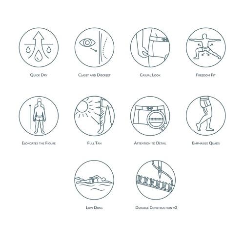 Textile line icons