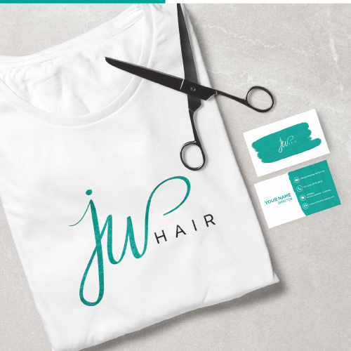 Elegant Logo and identity for hairdresser shop