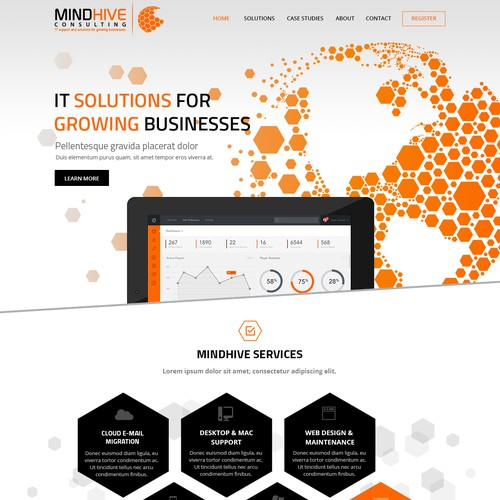 Help Mind Hive Consulting (IT Services) design an attractive andunique website!