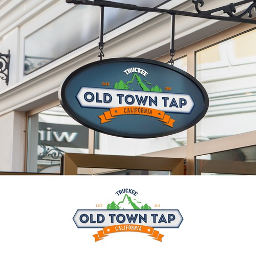 Vintage logo for Old Town Tap