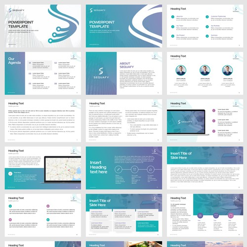 Powerpoint template for Sequafy