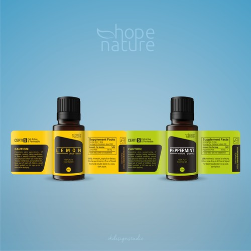 Hope & Nature Oil Bottle Labels