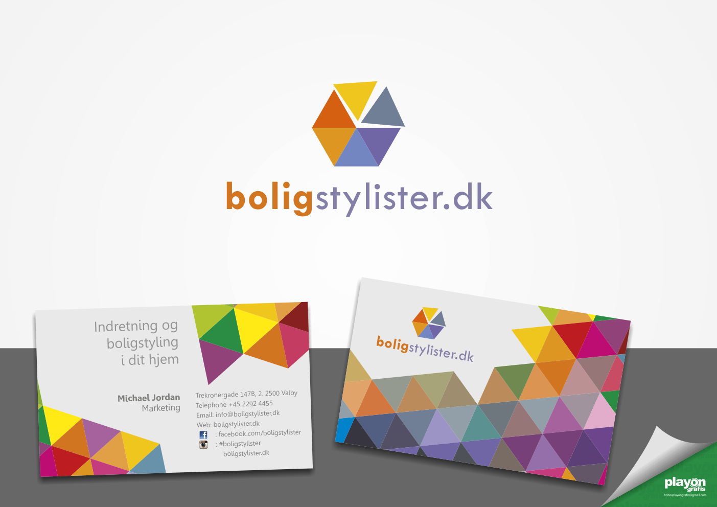 Create a stunning logo and business card for home decorating service