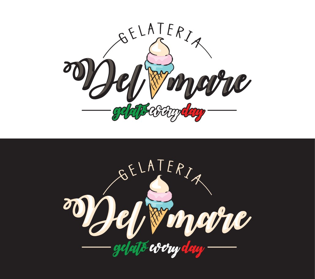 Design an elegant logo for our Gelato ice cream shop