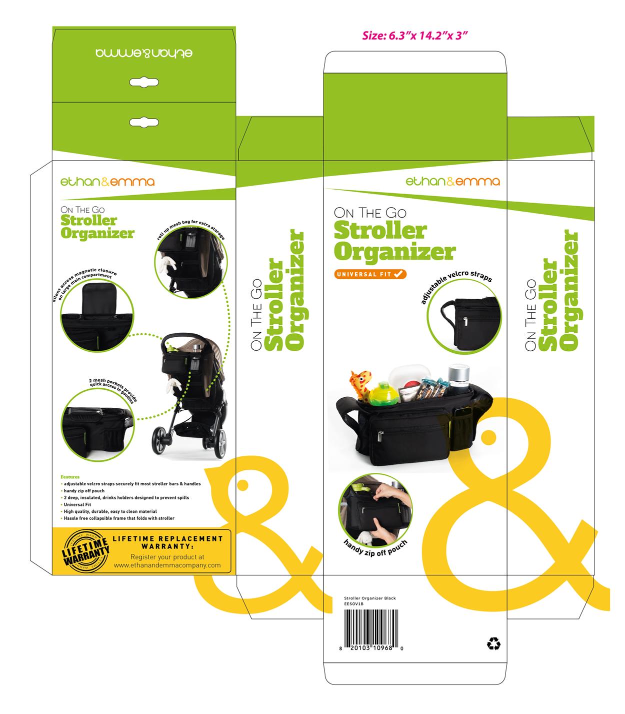 Create a stunning stroller organizer package design