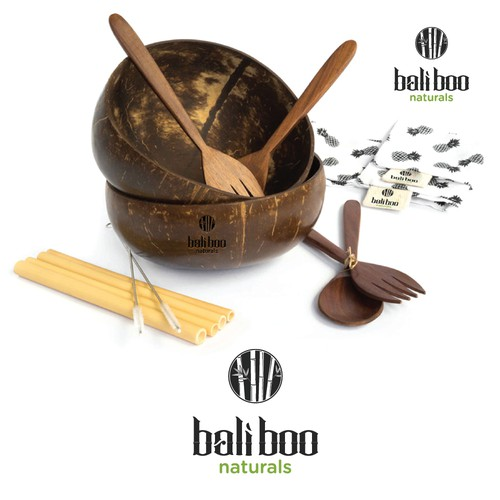 Logo + Brand Guide for Bali Boo -- Natural Alternatives to Plastic
