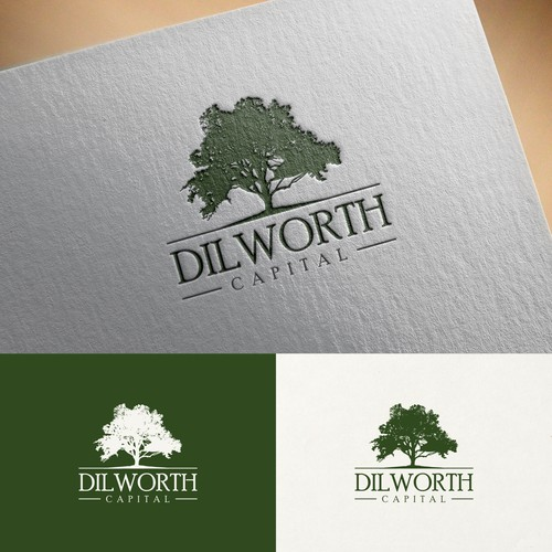 Logo incorporating a willow oak tree for Dilworth Capital