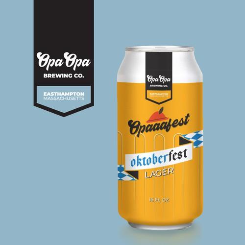 Oktoberfest beer can