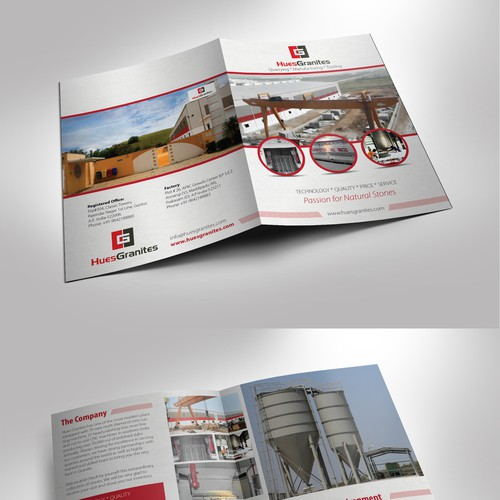Create a excellent brochure for granite quarrying, manufacturing and trading comapny