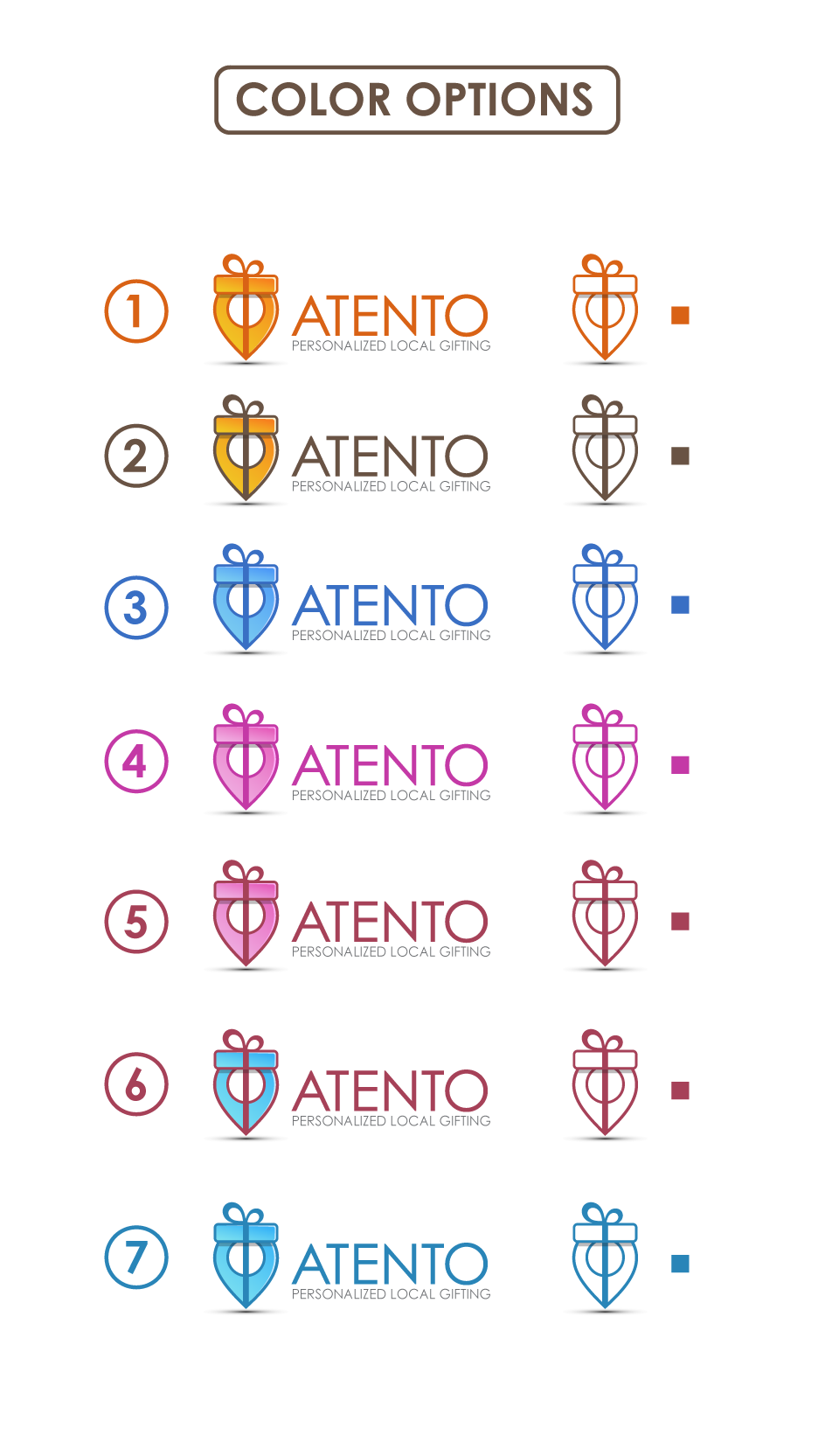 Design a great brand identity for Atento gifting platform