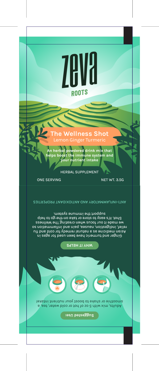 Packaging for a natural dietary supplement meant to boost the immune system