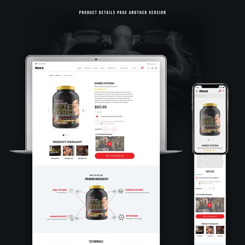 Redesigning existing Maxs website into a progressive and modern looking e-commerce website