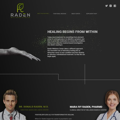 Site design concept for Medical center