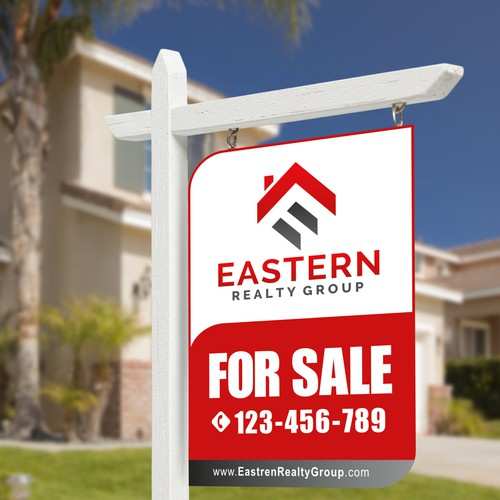 Eye catching and easy to read real estate lawn sign