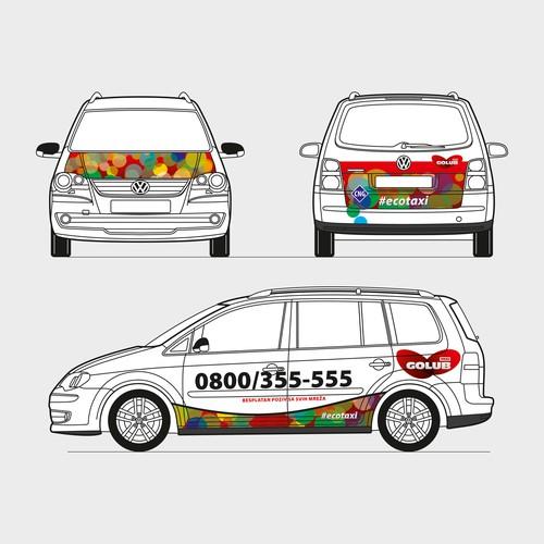 Taxi car wrap