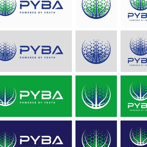 PYBA basketball logo